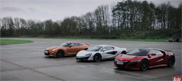 Movie: McLaren versus two Japanese icons in a drag race
