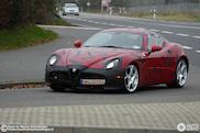 Terug in de tijd: Alfa Romeo 8C Competizione spyshots