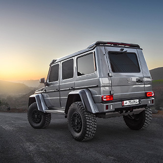 Photoshoot: Brabus G500 4x4² from Qatar to Morocco