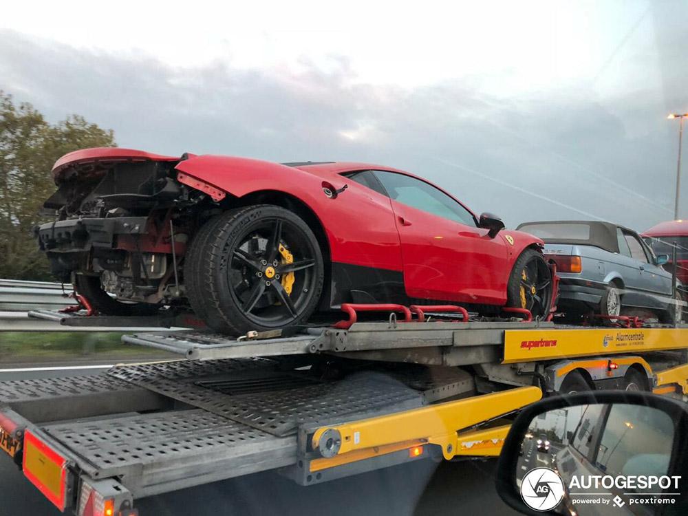 Ferrari 458 Speciale mist een aantal onderdelen