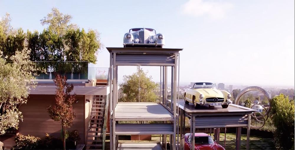 这所别墅拥有一个完美车房