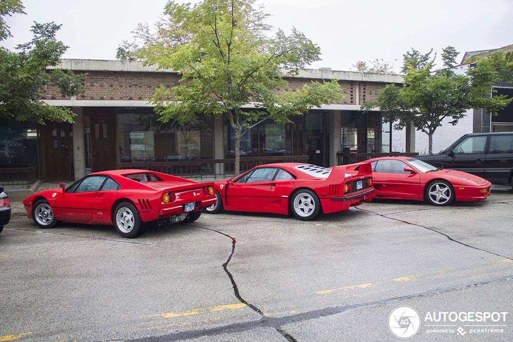 传奇跃马组合:法拉利 288 GTO 与 F40 齐齐上镜