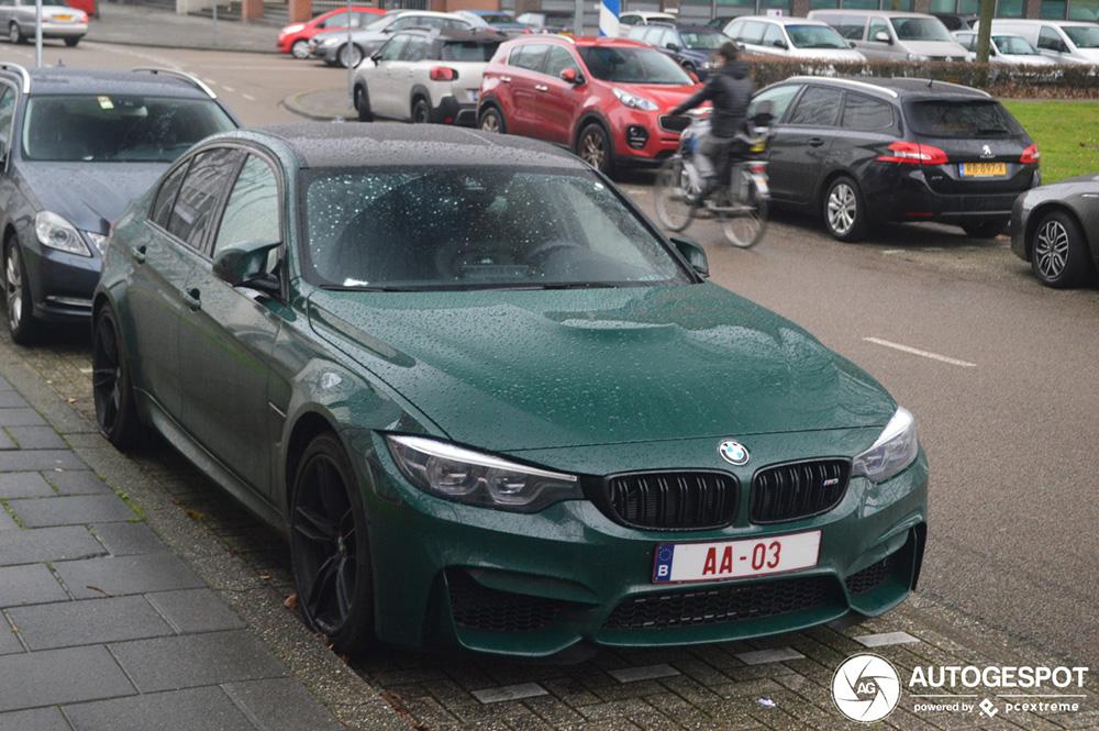 Belgische BMW M3 heeft opmerkelijk kenteken