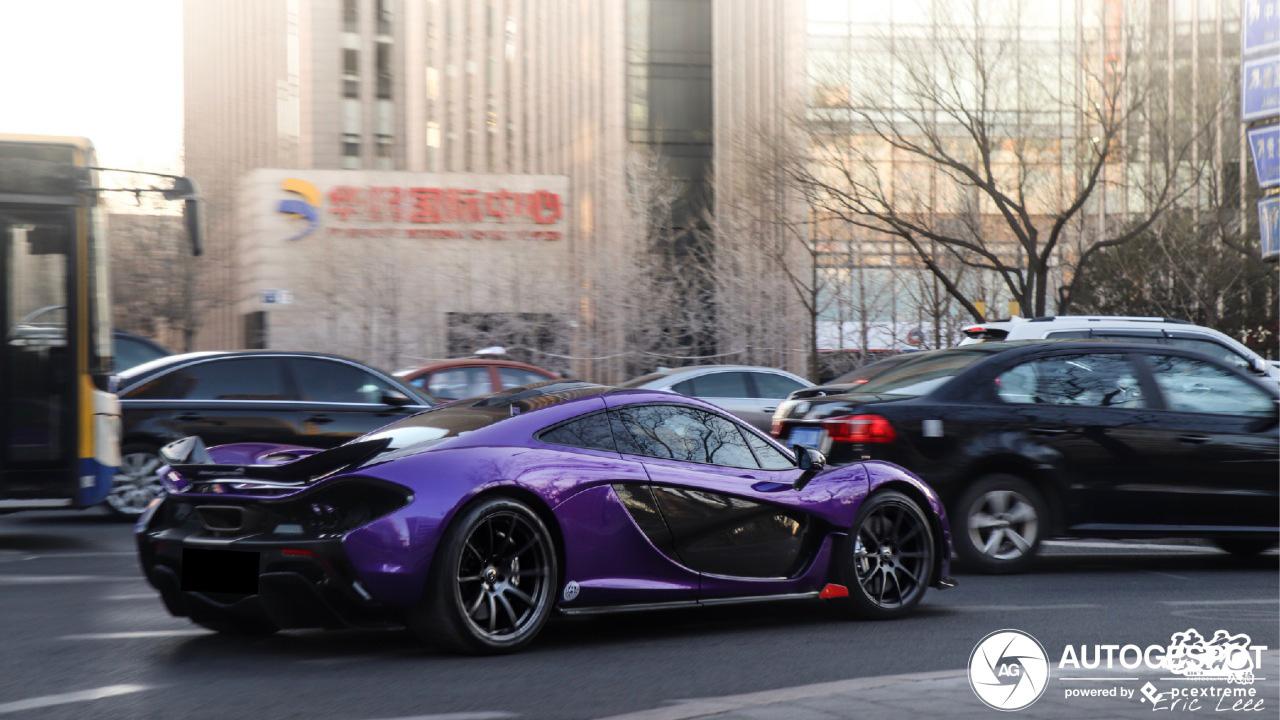 McLaren P1 in Beijing is het helemaal