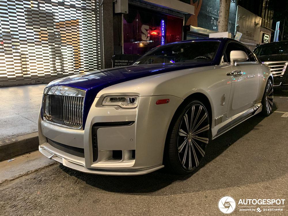 Dit zie je liever niet bij een Rolls-Royce Wraith