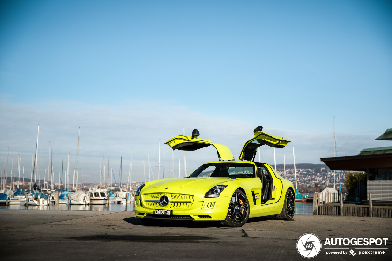 1 van de 9: Mercedes-Benz SLS AMG Electric Drive