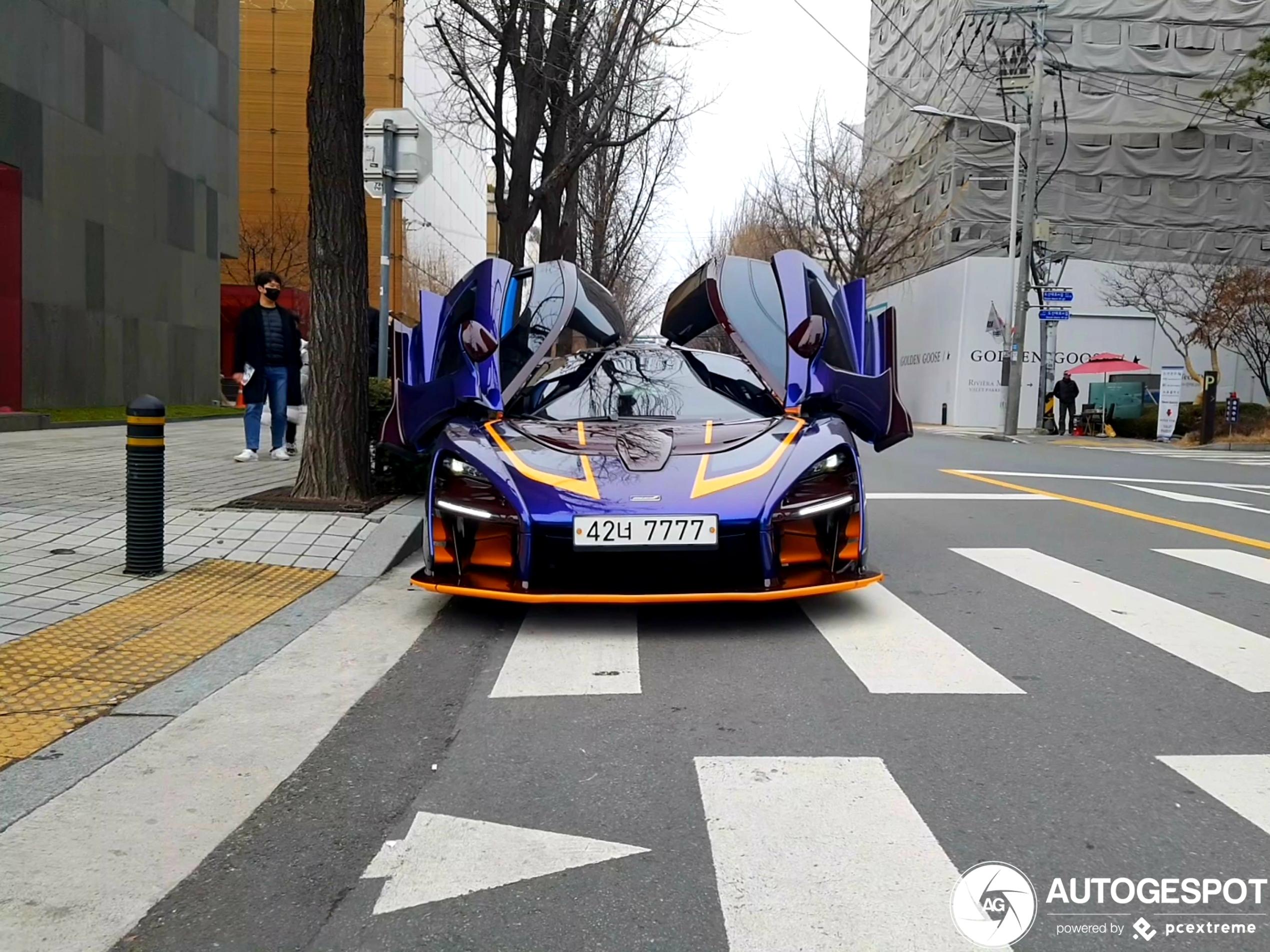 McLaren Senna is opvallend gekleurd in Zuid-Korea