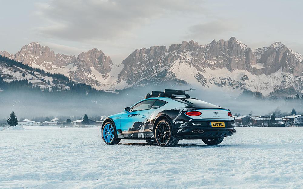 Bentley Continental GT is klaar voor GP Ice Race in Zell am See