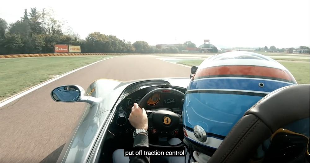 Filmpje: Ferrari Monza SP1 laat zelfs Nico Rosberg schrikken