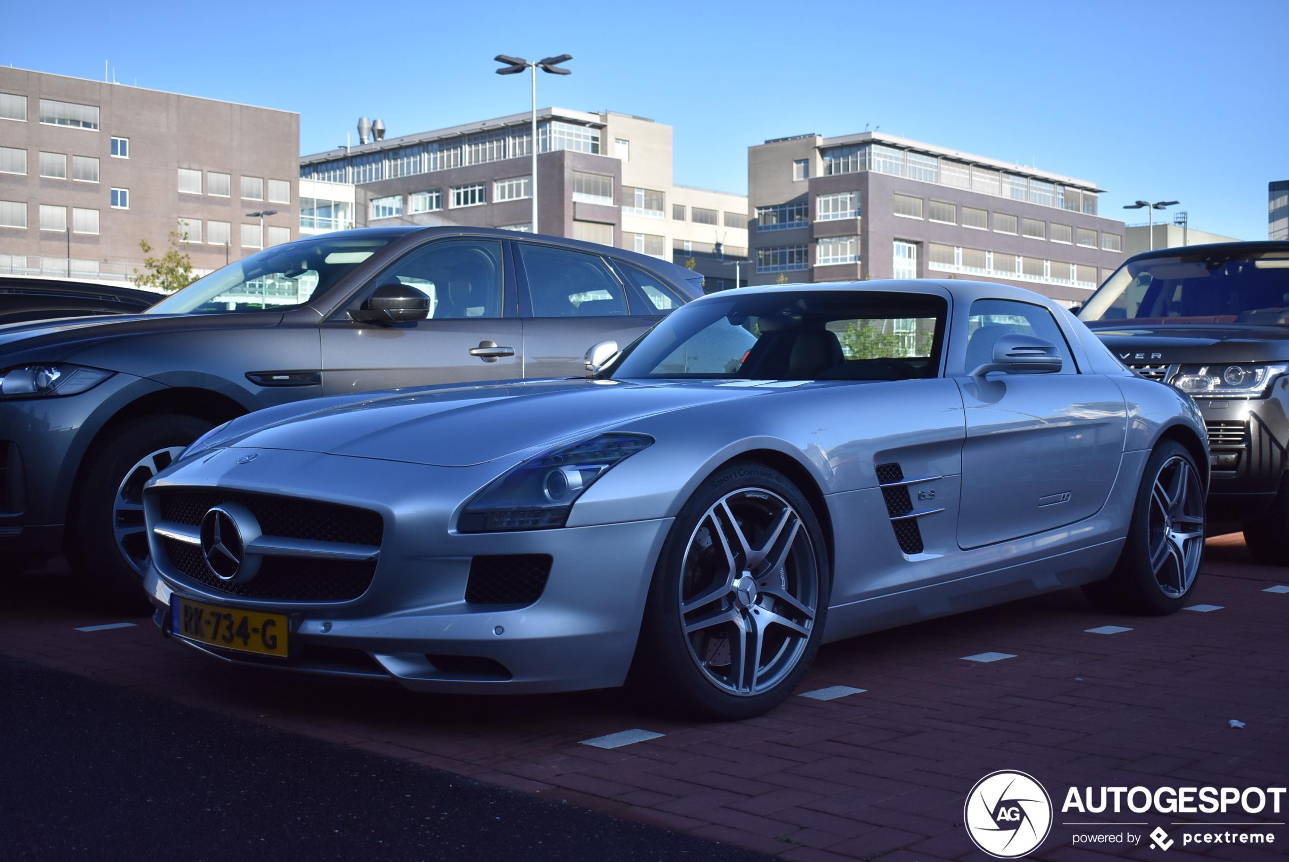 Mercedes-Benz SLS AMG wordt slechts zelden gezien