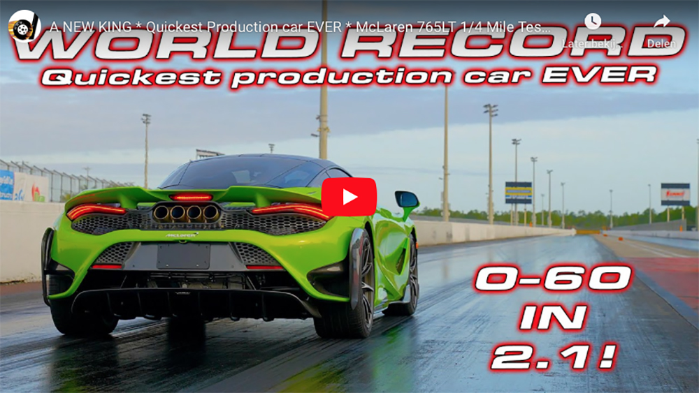 McLaren 765LT is abnormally fast