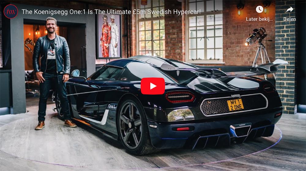 Filmpje: MrJWW vertelt je alles over de Koenigsegg One:1
