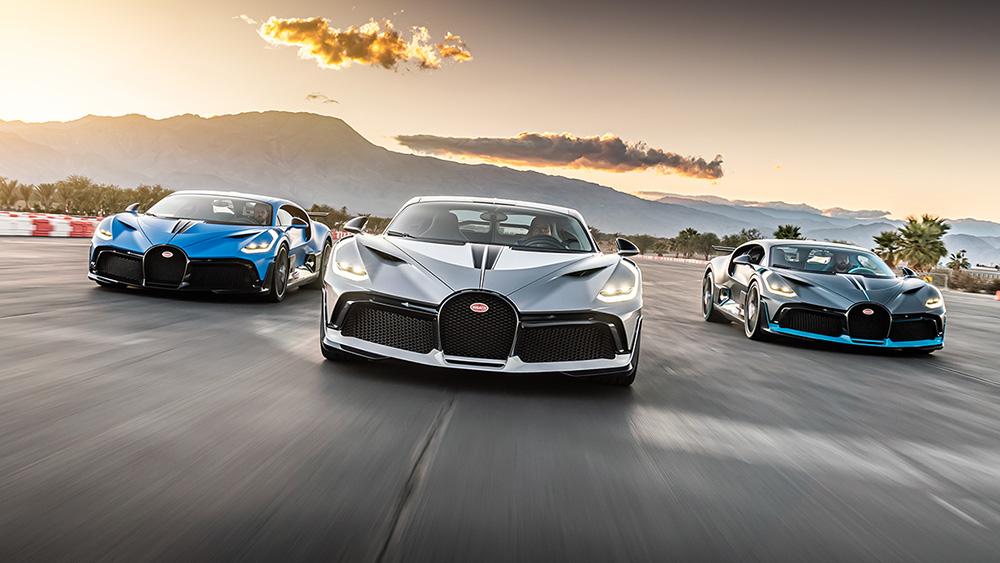 Bugatti levert drie Divo's af aan de Amerikaanse westkust