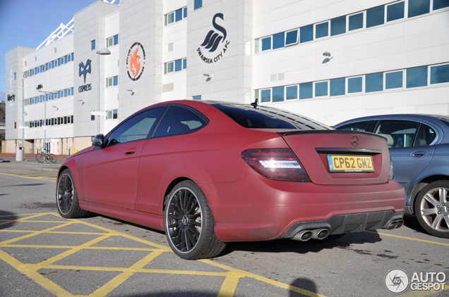 Spotted in swansea cool mercedes benz c 63 amg coup for Mercedes benz swansea