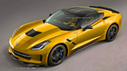 Molto cattiva: render della Corvette Stingray ZR1