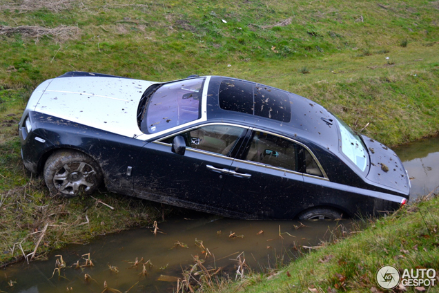 Crashed Rolls Royce Ghost In The Netherlands