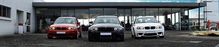 Photoshot: trei BMW 1-Serie M Coupés in Johannesburg