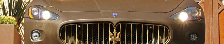 Servizio fotografico ad una Maserati GranCabrio Fendi