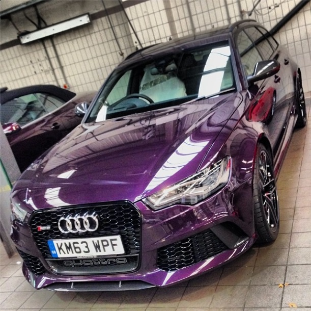 Audi Rs6 Avant C7 In The Colour Merlin Purple