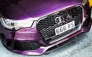 Niesamowite Audi RS6 C7 w kolorze Merlin Purple