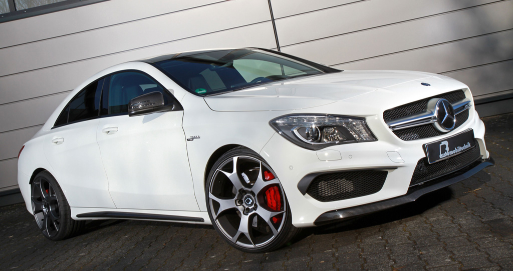 gives the mercedes-benz cla 45 amg up to 450 hp