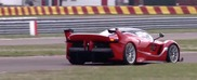 Vettel pushes the Ferrari FXX K to the limit