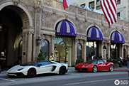 Spot of the Day USA: Red 488 GTB at the Beverly Wilshire