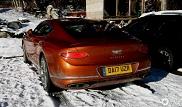 Nieuwe Bentley Continental GT gespot in winterse omstandigheden