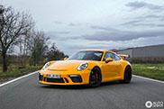PTS Signal Yellow Porsche GT3 is gewoon vet