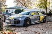 Gele details maken deze Audi R8 helemaal af