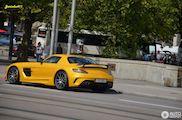 Gele Mercedes-Benz SLS Black Series blijft verfrissend