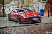 Rode Aston Martin Vanquish Zagato wordt niet vergeten
