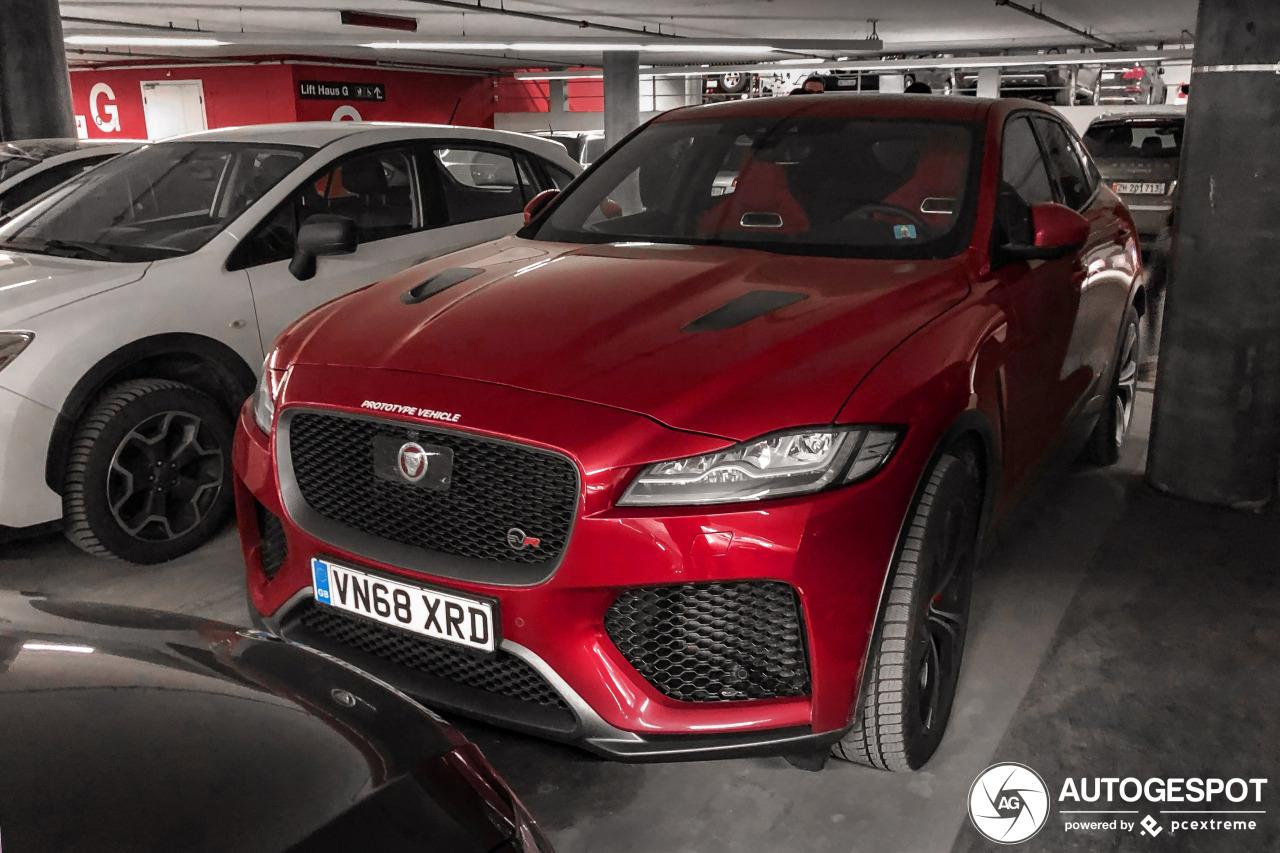 Gespot: Jaguar test nog altijd de F-PACE SVR