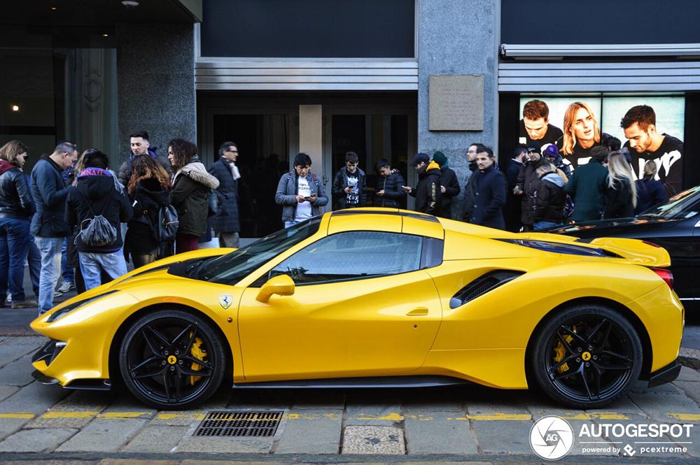 First Spot Ferrari 488 Pista Spider