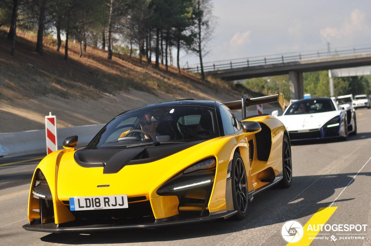 McLaren Senna gespot in goed gezelschap