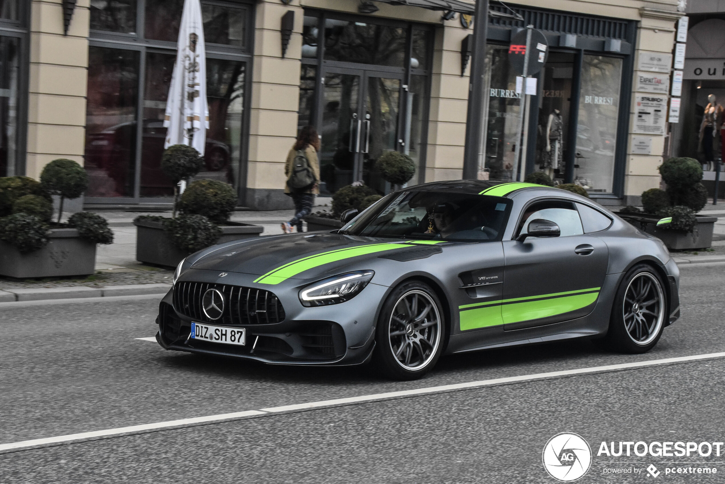 Mercedes-AMG GT R Pro conquers the streets of Wiesbaden Germany.