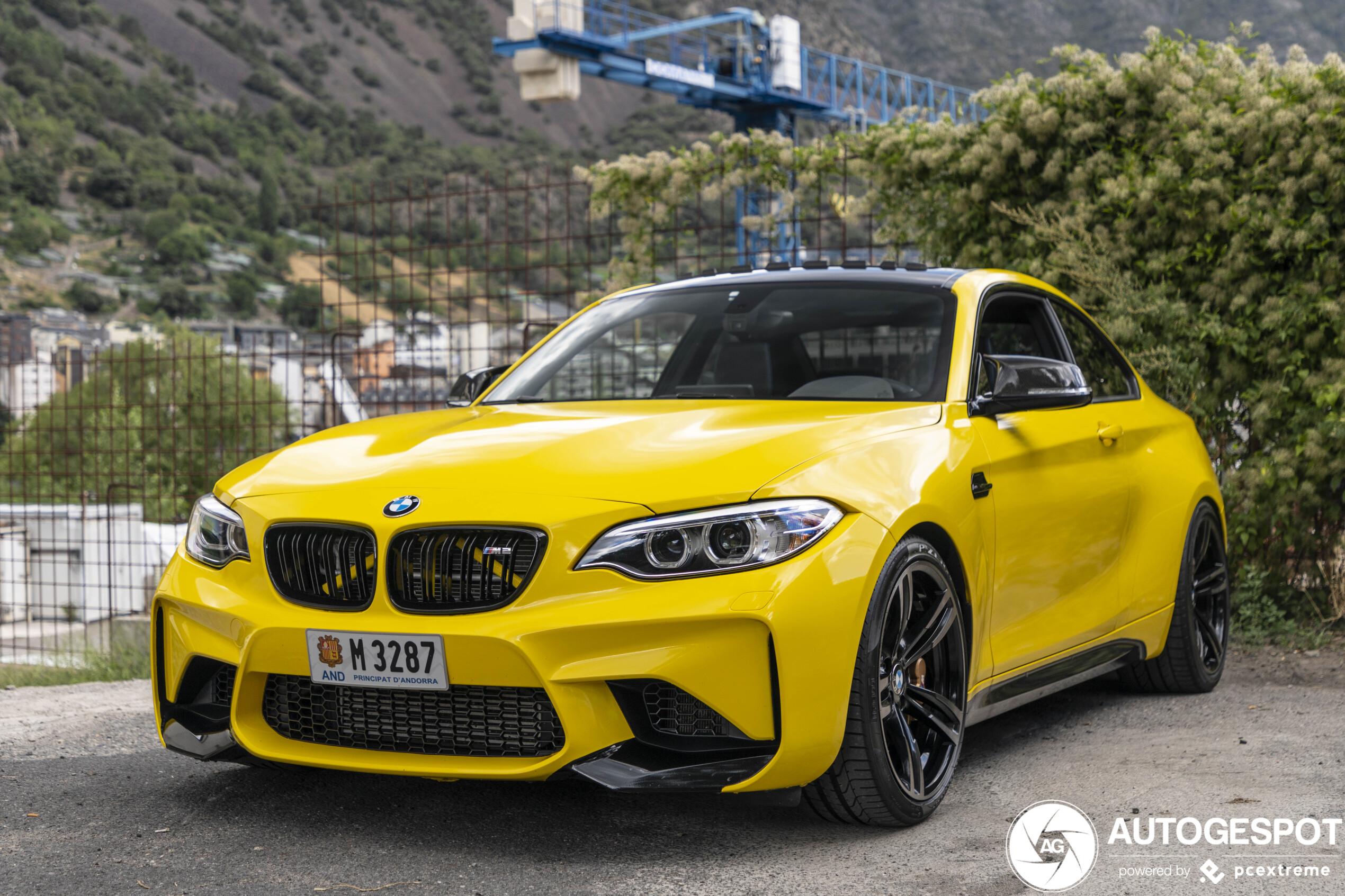 Gele BMW M2 is heel erg gaaf geworden