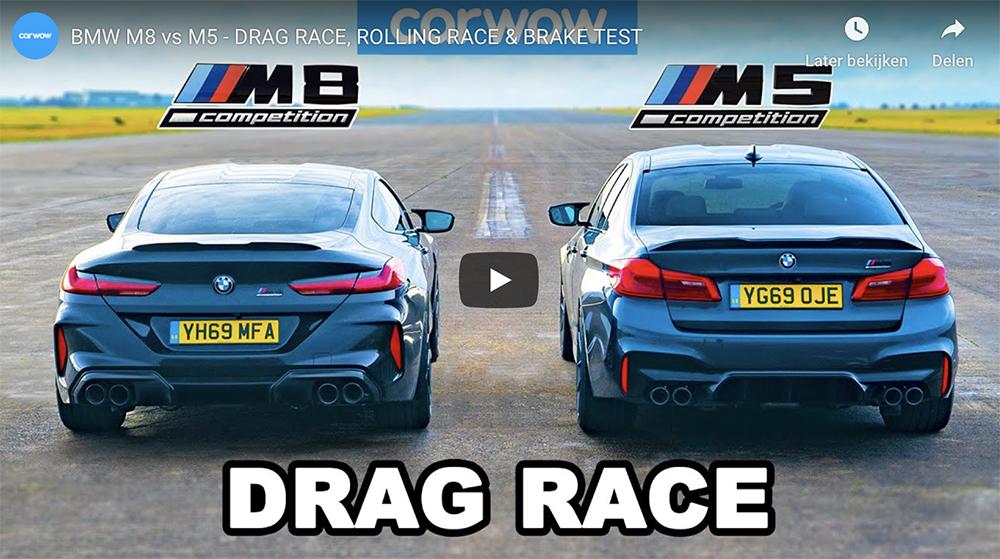 Filmpje: BMW M8 Competition tegen de M5 Competition