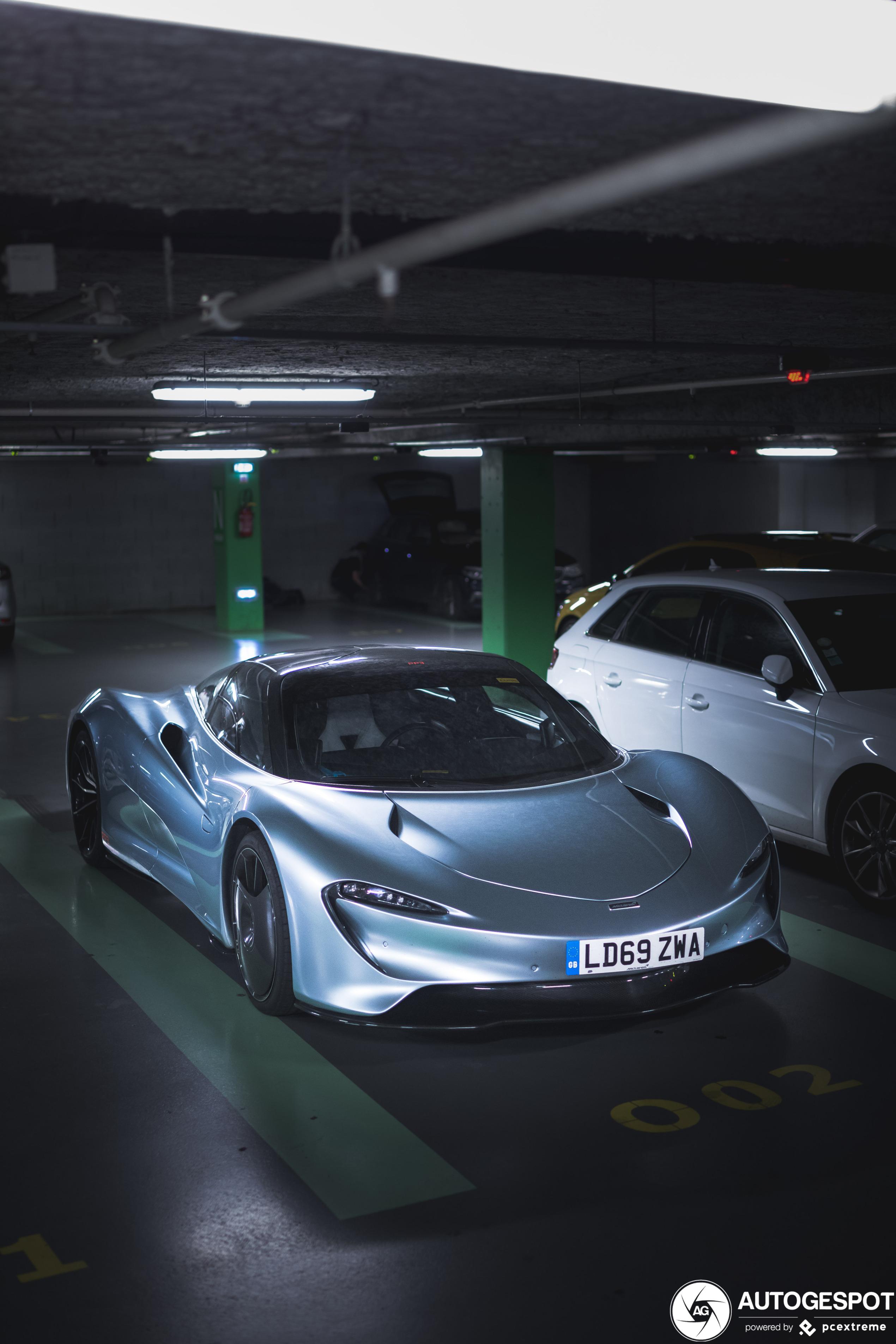 McLaren Speedtail duikt op in Lyon