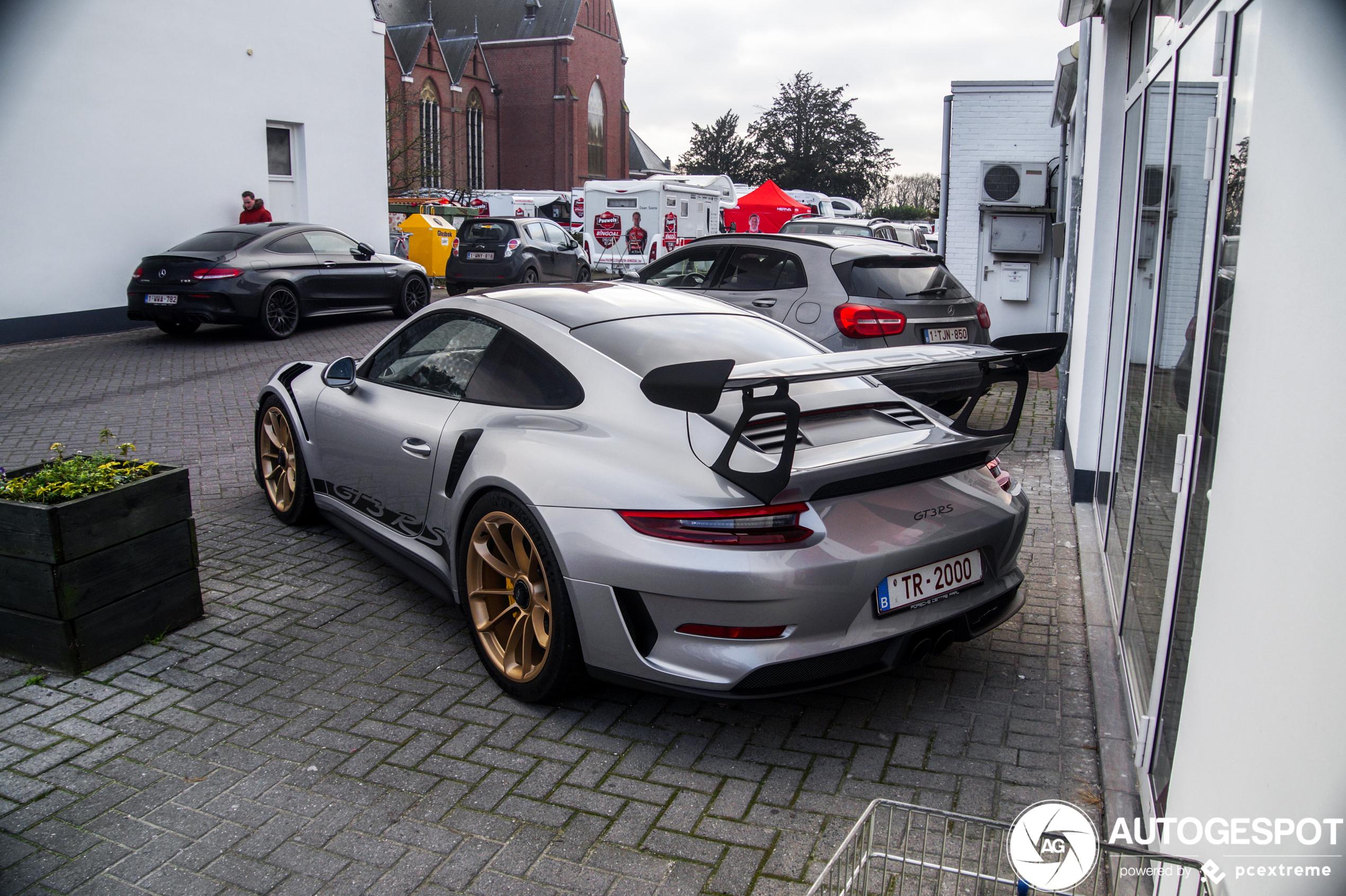 Spot van de dag: Porsche 991 GT3 RS MkII bij het veldrijden
