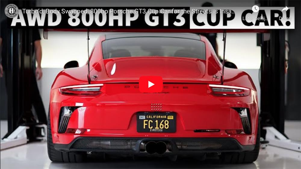 Filmpje: Porsche GT3 Cup car mag de straat op met 800 pk!