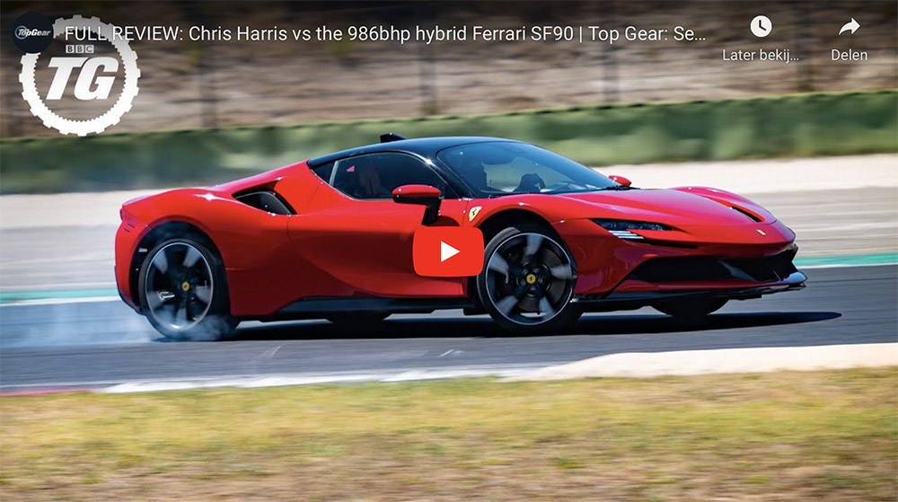 Filmpje: Chris Harris voelt de Ferrari SF90 Stradale aan de tand