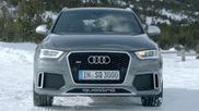 L'Audi RS Q3 resplendit dans la neige