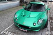 """Avistado Lotus Elise pintado en """"verde eléctrico"""""""