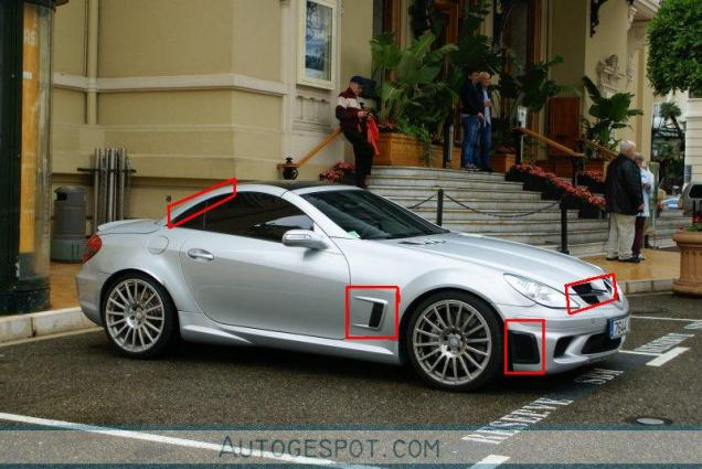 Recognizing cars: Mercedes-Benz SLK 55 AMG