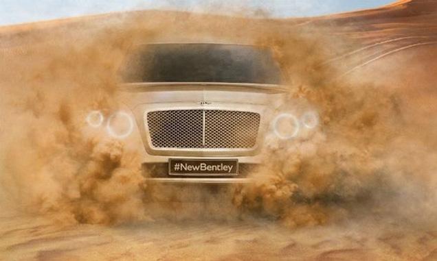Bentley laat nieuwe front SUV zien