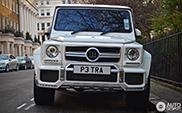 Petra Ecclestone driving through London in her Brabus G 63 AMG