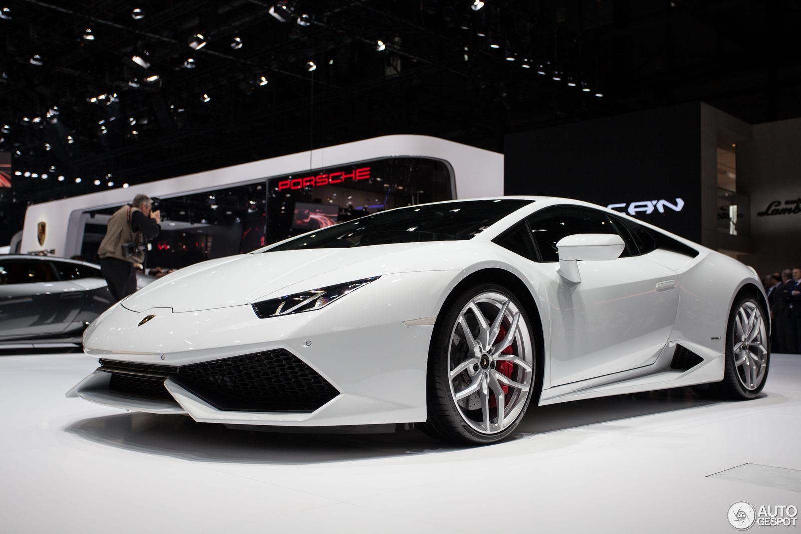 genve 2014 lamborghini huracn lp610 4 - Lamborghini Huracan Matte White