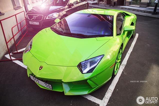 Lamborghini Aventador is extreem groen!