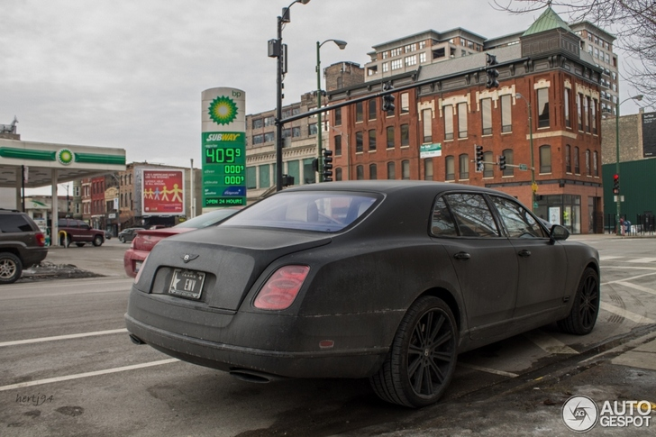This matte black Bentley Mulsanne needs to be washed